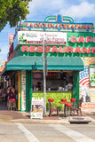 Typical cuban restaurant at 8th Street in Miami Royalty Free Stock Images