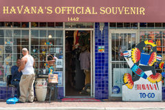 Typical cuban souvenirs shop in Little Havana, Miami Stock Photos