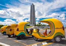 Typical cuban taxis in Havana Stock Photos
