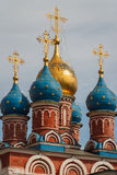 Typical cupolas of Russian church Royalty Free Stock Images