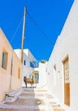 Typical Cycladic scene Stock Photos