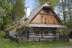 Typical Czech rural building in the highlands Stock Images