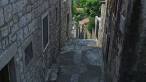 Typical dalmatian street in Cavtat, Croatia stock video