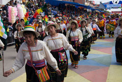 Typical Dancers at Oruro Carnival, Bolivia Stock Image