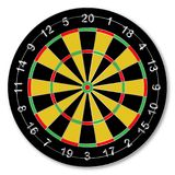Isolate Dartsboard. A typical dartsboard over a white background Royalty Free Stock Photography