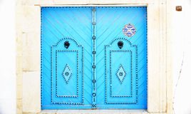 Typical decorated door in Sidi Bou Said Stock Photography