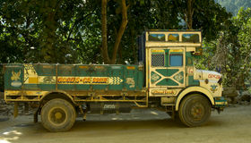 Typical decorated truck in Sikkim, India Stock Photo
