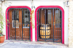 A typical decorative door in the old town in Calpe in Spain. Stock Image