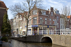 Delft canals Royalty Free Stock Images