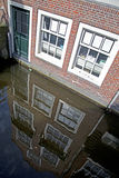 Delft canals Royalty Free Stock Photography