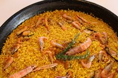 Typical and delicious spanish paella Stock Photography