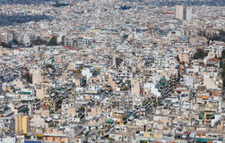Dense residential area in Athens, Greece Royalty Free Stock Photo