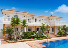 Typical Detached Villa. Typical Detached Villl in Southern Spain Stock Images
