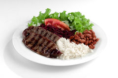 Typical dish of Brazil, rice and beans Royalty Free Stock Photography