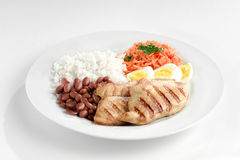 Typical dish of Brazil, rice and beans Royalty Free Stock Image