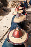 Typical Dogon hats, Mali. Typical Dogon hats, Mali (Africa Royalty Free Stock Images