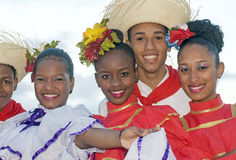 Typical Dominican Dancers Royalty Free Stock Images