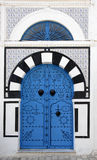 Typical Door. In Sid Bou Said in Carthage, Tunisia Royalty Free Stock Photos