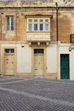 Typical doors and balconies in Malta. Typical colorful doors and balconies in Malta stock photography