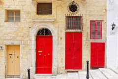 Typical doors of Malta. (La Valletta Royalty Free Stock Images