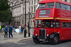 Typical double decker in london city royalty free stock photos