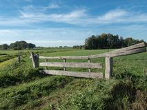 Typical dutch fence, man made royalty free stock photography