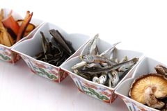Typical dried foods for Japanese soup stock Stock Photo