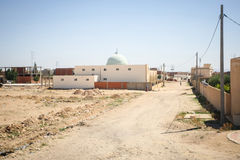 Typical dusty street in Jummah Stock Images