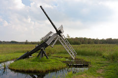 Typical Dutch agrarian windmill Stock Image