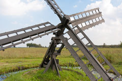 Typical Dutch agrarian windmill Royalty Free Stock Photography