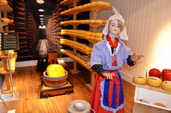 Typical Dutch cheese factory Stock Image