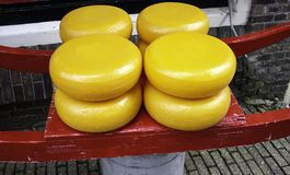 Typical Dutch cheese. Traditional food, shops stock image