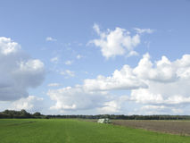 Typical Dutch cloudscape in summer Stock Image