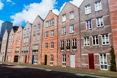 Typical dutch colorful houses, Hague Den Haag, Netherlands. Line of typical dutch colorful houses, Hague Den Haag, Netherlands Stock Photos