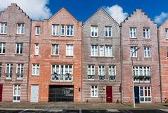 Typical dutch colorful houses, Hague Den Haag, Netherlands. Line of typical dutch colorful houses, Hague Den Haag, Netherlands Royalty Free Stock Images