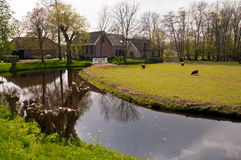 Typical Dutch country house in Netherlands . Stock Images