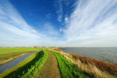 Typical Dutch country landscape in Marken Royalty Free Stock Photo