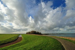 Typical Dutch country landscape in Marken royalty free stock images