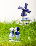Typical dutch delft blue ceramic Stock Images