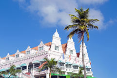 Typical dutch design architecture in Oranjestad Aruba Royalty Free Stock Photography