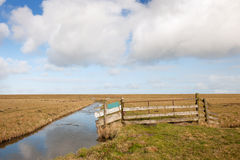 Typical Dutch empty landscape Stock Images