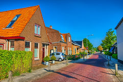 Typical Dutch family houses. Modern architecture Royalty Free Stock Photo