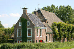 Typical Dutch farmhouse. In the northern part of Friesland(Holland Royalty Free Stock Images