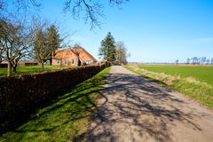 Typical Dutch farmhouse Royalty Free Stock Photo