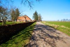Typical Dutch farmhouse Royalty Free Stock Photo