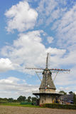 Typical Dutch flour windmill near Veldhoven, North Brabant Royalty Free Stock Photo