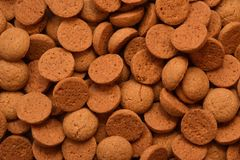 Typical dutch ginger nuts candy also known as pepernoten or kruidnoten eaten during Sinterklaas Royalty Free Stock Images