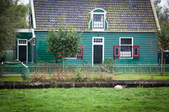 typical Dutch house in Zaandam Royalty Free Stock Image