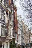 Typical Dutch houses in Amsterdam Royalty Free Stock Photo