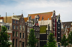 Typical Dutch Houses in Amsterdam Royalty Free Stock Image